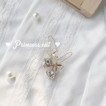Earrings Synthetic cubic zirconia / water drill RMB 20-24.99 Other / other Bow (earrings)