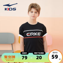 T-shirt Cool blue 603 white 001 black 004 Erke / hongxingerke 110cm 120cm 130cm 140cm 150cm 160cm 165cm 170cm neutral summer Short sleeve Crew neck leisure time There are models in the real shooting nothing cotton Brand logo Cotton 80% polyester 20% Summer 2021 Chinese Mainland Fujian Province