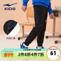 trousers Erke / hongxingerke male 110cm 120cm 130cm 140cm 150cm 160cm 165cm 170cm Zhenghei 001 spring and autumn trousers motion Sports pants middle-waisted Don't open the crotch Cotton 65% polyester 35% Spring 2021 Chinese Mainland Fujian Province Zhangzhou City