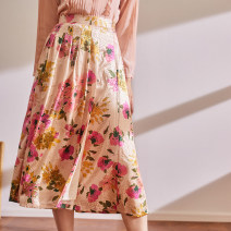 skirt Spring 2021 S,M,L printing Mid length dress Sweet High waist A-line skirt Decor Type A BQ200120 More than 95% other The magic magician of Oz other jacquard weave
