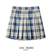 skirt Spring 2021 S,M,L Black, blue Short skirt Versatile High waist A-line skirt lattice Type A 51% (inclusive) - 70% (inclusive) other other