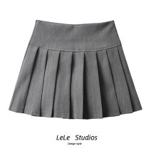 skirt Spring 2021 M, S 264 black, 264 gray, 268 black, 268 gray, 268 coffee Short skirt Versatile High waist Pleated skirt Solid color Type A 51% (inclusive) - 70% (inclusive) other
