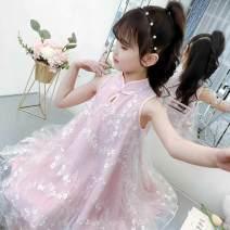 Dress Fairy skirt green, fairy Skirt Pink, red letter stripe T-shirt female Other / other Other 100% summer Korean version Skirt / vest Broken flowers other other Class B Chinese Mainland Zhejiang Province Huzhou City