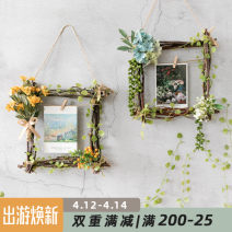 Picture frame no 5-6, 8-9 Autumn William, hydrangea, autumn pineapple, small rose, large sunflower Photo frame square Countryside wood A Ying home decoration
