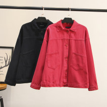 short coat Autumn of 2019 XL,2XL,3XL Black, red Long sleeves routine routine singleton  easy Versatile routine Polo collar Single breasted Solid color 30-34 years old Other / other 51% (inclusive) - 70% (inclusive) 2001-075