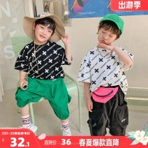 T-shirt Black, white, black second batch, white second batch I'M SWEET The recommended height is about 95-105cm for size 100, 105-115cm for Size 110, 115-125cm for Size 120, 125-135cm for Size 130, 135-145cm for size 140, 145-150cm for size 150 and 155-160cm for size 160 male summer Short sleeve
