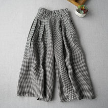 Casual pants Average size Spring 2020 Cropped Trousers commute routine 96% and above literature hemp
