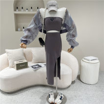 Fashion suit Spring 2021 Average size Black, gray 18-25 years old 51% (inclusive) - 70% (inclusive)