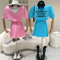 Dress Spring 2021 Pink, blue, black, white Average size 18-24 years old 51% (inclusive) - 70% (inclusive)