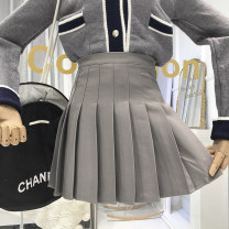 skirt Summer of 2019 S,M,L Short skirt Solid color 18-24 years old 51% (inclusive) - 70% (inclusive)