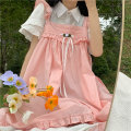 Dress Summer 2021 Shirt, pink suspender skirt One size fits all, XXS pre-sale Middle-skirt singleton  Sleeveless Sweet Loose waist Socket Big swing other straps 18-24 years old Type H 30% and below solar system