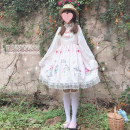 Dress Summer of 2019 Cherry powder 9635, baby blue 9635, white with 9670 One size fits all, XXS pre-sale Middle-skirt singleton  Sleeveless Sweet Elastic waist Big swing Others 18-24 years old Type A Other / other solar system