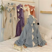 Pajamas / housewear set female Other / other One size fits all, XXS pre-sale Off white other Cartoon Leisure home winter routine Hood trousers zipper youth one-piece garment