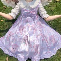 Dress Summer 2020 Pink jsk, light blue jsk, 9688 white shirt One size fits all, XXS pre-sale Middle-skirt Sweet High waist Socket Princess Dress camisole 18-24 years old Type A Lolita