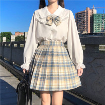 Fashion suit Autumn 2020 S. M, average size Shirt long sleeve, shirt short sleeve, yellow skirt + bow tie, green skirt + bow tie 18-25 years old
