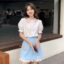 Fashion suit Summer 2021 S. M, average size Shirt, shirt premium, skirt, skirt premium 18-25 years old 30% and below