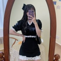 Fashion suit Summer 2021 Average size Black top, black skirt 18-25 years old 30% and below