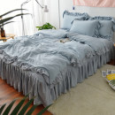 Bedding Set / four piece set / multi piece set Others other Solid color 128x68 Kaihao Others 4 pieces 40 1.2m (4 feet) bed 1.5m (5 feet) bed 1.8m (6 feet) bed 2.0m (6.6 feet) bed 1.5m bed (quilt cover 200 * 230) 1.8m bed (quilt cover 200 * 230) 2.0m bed (quilt cover 220 * 240) Bed skirt First Grade