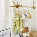 Dress Lemon yellow female Other / other The height of 80 cm is about 75 cm , The height of 90 cm is about 85 cm , The height of 100 cm is about 95cm , The height of 110 cm is about 105 cm , The height of 120 cm is about 115cm , The height of 130 cm is about 125 cm Other 100% summer Korean version