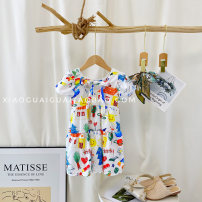 Dress Cartoon graffiti dress female Other / other The recommended height is 95cm-100cm for size 7, 100cm-105cm for size 9, 105cm-115cm for size 11, 115cm-120cm for size 13 and 120cm-130cm for size 15 Other 100% summer Cartoon Short sleeve Cartoon animation other A-line skirt G2183 Chinese Mainland