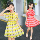 Dress Red, yellow, green, white, gray, black female Other / other It is suggested to be about 95 for 110, 105 for 120, 115 for 130, 125 for 140, 135 for 150 and 145 for 160 Other 100% summer Korean version Short sleeve Dot Chiffon A-line skirt HJ9009 Class B