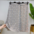 skirt Summer 2021 M,L,XL Green, blue Middle-skirt commute High waist A-line skirt Decor Type A 25-29 years old More than 95% other other printing Korean version