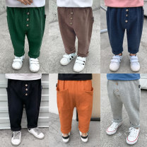 trousers middle-waisted Rubber belt Class A Small die male 12 months, 18 months, 2 years old, 3 years old, 4 years old, 5 years old, 6 years old, 7 years old trousers Big PP pants spring and autumn Don't open the crotch No model in real shooting leisure time Cotton blended fabric Other 100% Y0989