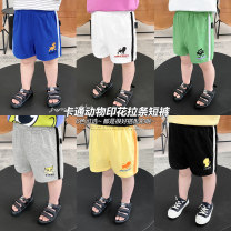 trousers Small die male 80CM,90CM,100CM,110CM,120CM,130CM Black, white, green, color blue, bright yellow, gray summer shorts leisure time No model Combat trousers Leather belt middle-waisted Cotton blended fabric Other 100% X2424