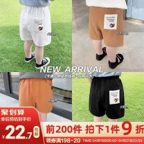 trousers Small die male 80CM,90CM,100CM,110CM,120CM,130CM Khaki, black, white, orange summer shorts leisure time No model Combat trousers Leather belt middle-waisted Cotton blended fabric Other 100% X2448