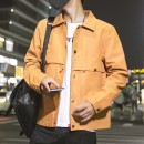 Jacket Other / other other Yellow, red, gray, black. It's recommended to take a bigger size M. L, XL, XXL, XXXL, XXXXL routine Self cultivation Other leisure autumn YWB7002 Long sleeves Wear out Lapel tide youth routine Single breasted 2020 Straight hem No iron treatment Solid color Side seam pocket