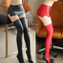 Socks / base socks / silk socks / leg socks female Other / other Average size 1 pair Thin money High tube Four seasons sexy Solid color nylon CA01