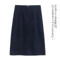 skirt Spring 2021 XL,2XL,3XL,4XL,5XL,14# 1 # dark blue, 2 # dark blue, 3 # black Mid length dress Versatile Solid color Lady Boya pocket