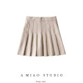 skirt Autumn 2020 S,M,L Black, light Camel Short skirt High waist Pleated skirt Solid color Type A 71% (inclusive) - 80% (inclusive)