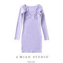 Dress Spring 2020 Purple, apricot, khaki, green, gray, black S, M Short skirt Two piece set street Solid color One pace skirt routine 71% (inclusive) - 80% (inclusive) Europe and America