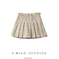 skirt Summer of 2019 XS,S,M,L Khaki, blue Short skirt lattice Type A 71% (inclusive) - 80% (inclusive)