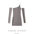 Dress Summer 2021 Gray, white, blue, black S,M,L Short skirt street Solid color camisole 71% (inclusive) - 80% (inclusive) Europe and America