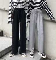 Casual pants Grey spring and autumn (84cm), black spring and autumn (84cm), grey spring and summer (88cm), black spring and summer (88cm), grey spring and summer (92cm), black spring and summer (92cm), black plush (84cm), black plush (88cm), black plush (92cm) XS,S,M trousers Wide leg pants