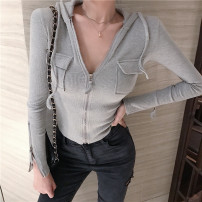 short coat Autumn 2020 S,M,L White, black, grey Long sleeves routine routine singleton  Self cultivation commute routine Hood zipper Solid color 25-29 years old Other / other 51% (inclusive) - 70% (inclusive) Pocket, zipper HJGSH456 other cotton