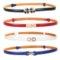 Belt / belt / chain Pu (artificial leather) female belt Versatile Single loop Youth, youth, middle age a hook Glossy surface Patent leather 1.5cm alloy Bare body, heavy line decoration, candy color