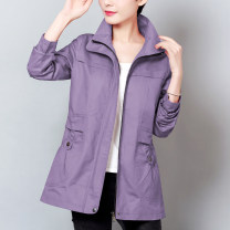 short coat Spring 2021 M / suggest 90-100kg, L / suggest 100-110kg, XL / suggest 110-120kg, 2XL / suggest 120-130kg, 3XL / suggest 130-140kg, 4XL / suggest 140-150kg Khaki, purple, jujube, red bean paste Long sleeves routine routine singleton  easy commute routine other zipper Solid color GF17CW8832