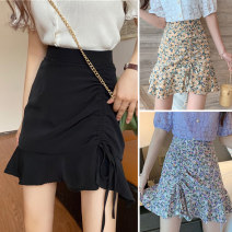 skirt Summer 2020 M,L,XL,2XL,3XL,4XL Black, yellow, purple Short skirt commute High waist Irregular Solid color Type A DM200b 31% (inclusive) - 50% (inclusive) other Other / other Cellulose acetate Pleating, asymmetry Korean version