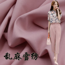 Fabric / fabric / handmade DIY fabric chemical fiber Loose shear rice Solid color printing and dyeing clothing Europe and America polyester Chinese Mainland