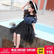Dress Black [Stock second, order quickly] Nilska female Other 100% summer Korean version Short sleeve other other Irregular 18LYQ47 Class B