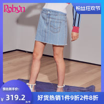 skirt Spring of 2019 S M L 50 blue Short skirt Natural waist 25-29 years old 9R631BS More than 95% Robin hung / Hong yingni cotton Cotton 100%