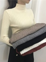 Wool knitwear Winter 2020 Average size Long sleeves singleton  Socket other 30% and below have cash less than that is registered in the accounts routine commute Half height crew neck routine Solid color Socket Korean version 18-24 years old