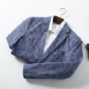 man 's suit 21-0439 blue Huasachi Fashion City routine 165/84Y,170/88A,170/92B,175/92A,175/96B,180/96A,180/100B,185/104B,190/112C standard Double breasted Other leisure Back middle slit youth Long sleeves routine Business Casual Casual clothes Straight hem Solid color Narrow collar (below 7cm)