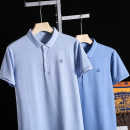 Polo shirt Huasachi Youth fashion thin 21bht-qc8244 flower blue, 21bht-qc8244 gray blue 48/170,50/175,52/180,54/185,56/190 standard business affairs summer Short sleeve Business Casual routine youth Cotton 48% polyester 48% polyurethane elastic fiber (spandex) 4% 2021 Solid color cotton Embroidery