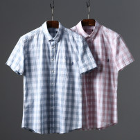 shirt other Huasachi 38,39,40,41,42,43,44 21-0402 pink, 21-0402 blue routine other Short sleeve standard Other leisure summer youth tide 2021 lattice
