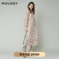 Dress Summer 2020 00001 00002 Mid length dress singleton  Long sleeves Sweet Crew neck middle-waisted Socket Big swing bishop sleeve Others 25-29 years old moussy More than 95% polyester fiber Polyester 100% solar system Same model in shopping mall (sold online and offline)