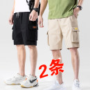 Casual pants Pass by Youth fashion M L XL 3XL 4XL 5XL 2XL thin Shorts (up to knee) Other leisure easy No bullet HM-H902 summer youth tide 2020 middle-waisted Straight cylinder Cotton 100% Overalls Pocket decoration No iron treatment cotton Summer of 2019 Pure e-commerce (online only) More than 95%